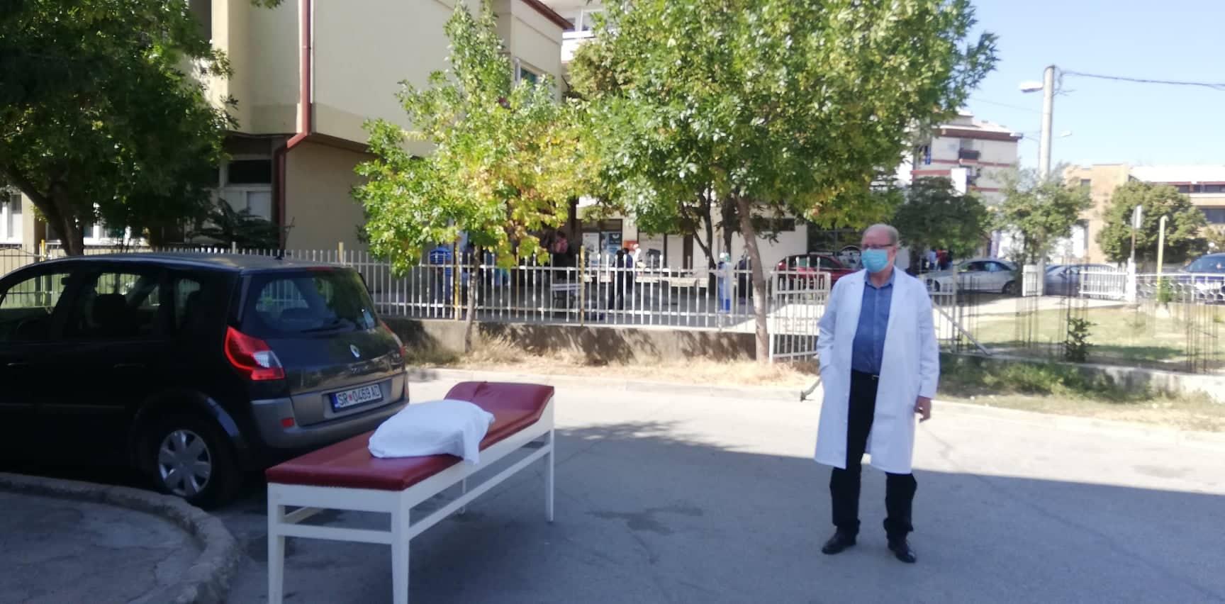 Драма на инфективно во Струмица – насилнички украле починат пациент со се кревет а надвор ги чекало комбе