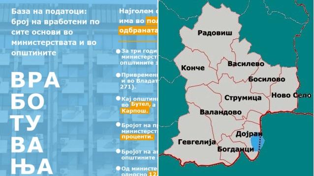 Колку вработени има во општините од Југоистокот, раст во Гевгелија опаѓање во Струмица – истражување на ЦГК од Скопје